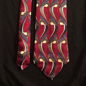 MARTIN WONG Collections Men's Necktie Red Tie Silk